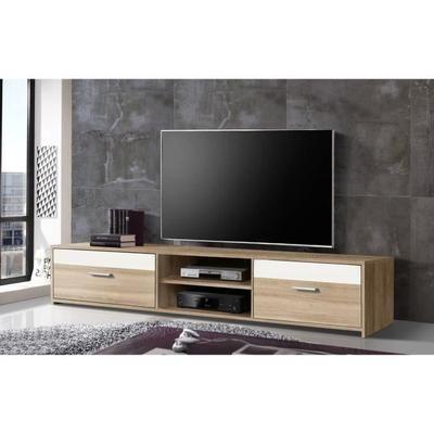 Finlandek Meuble Tv Katso Decor Chene Sonoma Et Blanc Mat L 160