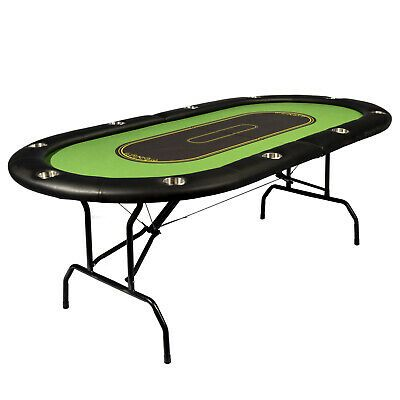 Ebay Ad Link Poker Table Deluxe Foldable 10 Player Game Room Recreation Fun Playing Surface Poker Table For Sale Poker Table Poker