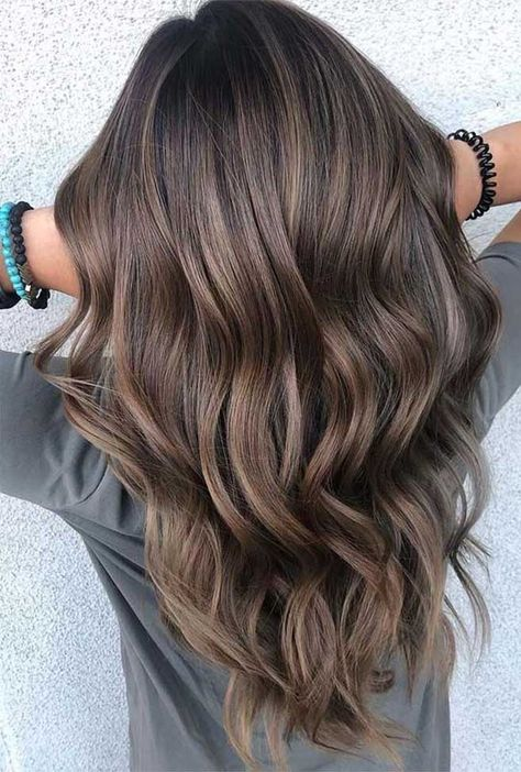 You may find here fantastic shades of brown balayage hair colors with awesome tones of ashy highlights for You may call it one of the fantastic hair colors for various hair lengths nowadays. Hair 15 Best Brown Balayage Hair Colors with Ashy Tones in 2019