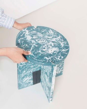 Sawarna Puzzle Stool for per Piece by Robries on Precious Plastic Bazar