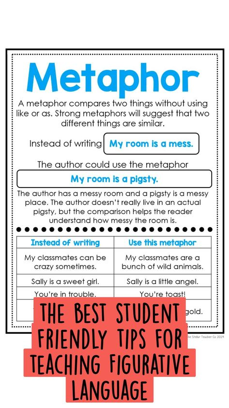 the best student friendly tips for teaching Figurative language