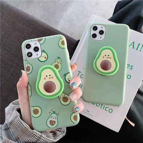 Luxury Cute Cartoon Fruit Avocado Soft Silicone Phone Case for Iphone X Xr Xs 11 Pro Max 6 S 7 8 Plus Holder Cover Gift Cute Cases, Cute Phone Cases, Iphone Phone Cases, Phone Covers, Cool Iphone Cases, Iphone Macbook, Lg Phone, Portable Iphone, Iphone7 Case