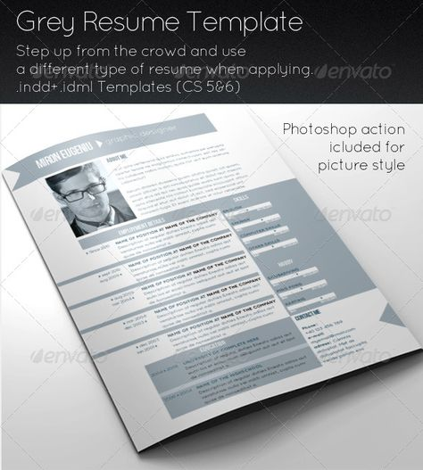 Grey Resume Template Template, Grey and Print templates - Different Resume Templates