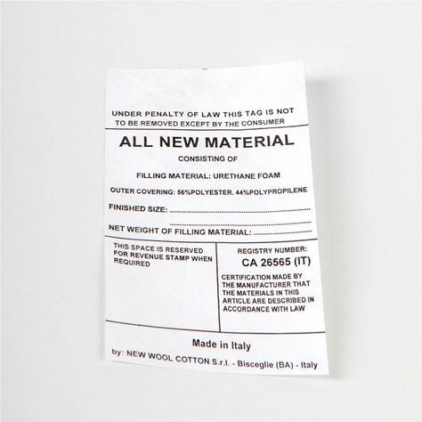 Etichette stampate su tyvek - Etichettificio Pugliese