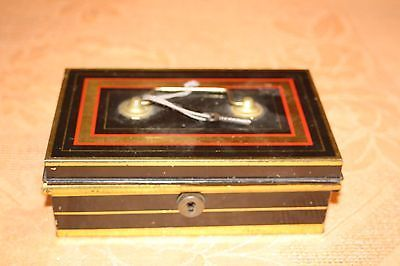 #Vintage #black and gold cash #tin.shabby chic,  View more on the LINK: http://www.zeppy.io/product/gb/2/302121046660/
