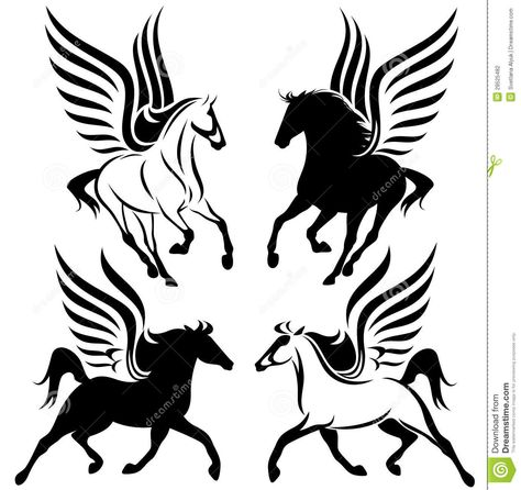 Winged Horses Vector Download From Over 36 Million High Quality