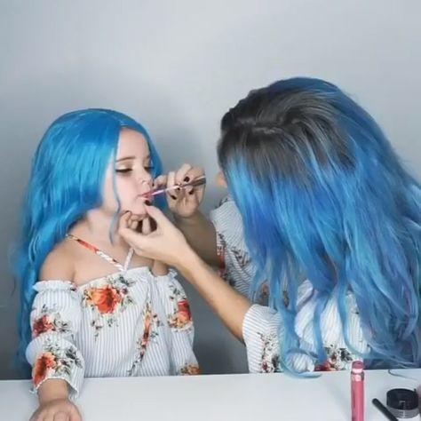 Mini me makeover! 😂👯♀️ #makeover #makeup #makeupartist #makeuplooks #makeuplover #makeuptime #makeupoftheday #makeupaddict