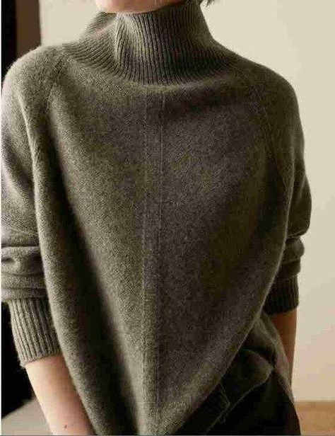 2018 Autumn Winter Cashmere Sweater Women'S High-Necked Pullover Loose Thick Sweater Short Paragraph Knit Shirt Dark Grey L