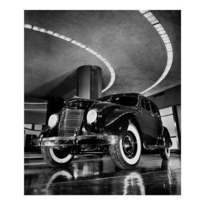 Auto Showroom Midtown Manhattan 1937 Poster Zazzle Com Chrysler Building Chrysler Airflow Chrysler
