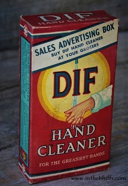 Dif Hand Cleaner Soap Detergent Sales Advertising Box Laundry Room