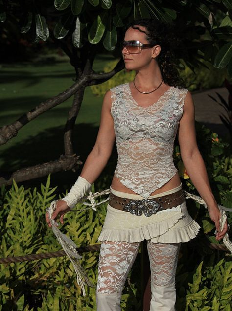 Mesh or Lace Faery Undershirt by ElvenForest on Etsy, $25.00