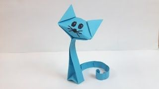 How to make a paper Cat? - YouTube