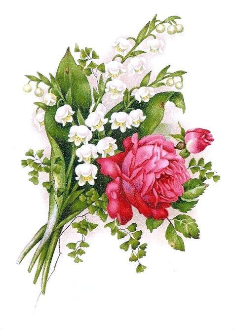 Ретро открытка с цветами