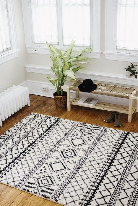 Interior Design With Black And White Rugs Interiordesignshome Com