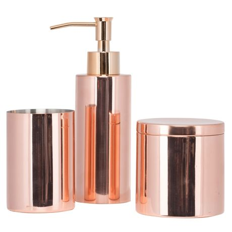 Exceptionnel Paloma Tumbler Soap Dispenser Canister In Copper Freedom 5PC Bathroom  Accessories Mesmerizing Coloured Images Best Nickbarron Co 100