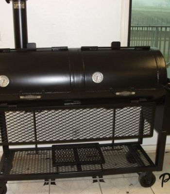 48 Charcoal Barbecue Grill Cooker Offset Smoker Combo