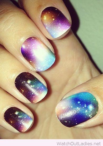 Galaxy Nail Art Inspiration Watchoutladies Pinterest