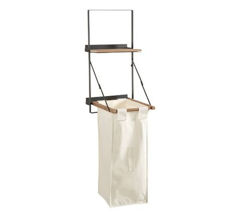 Trenton Laundry Bag Holder And Shelf In 2020 Laundry Solutions