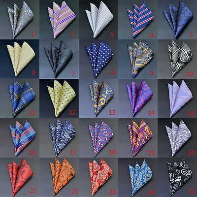 Handkerchiefs Men/'s Pocket Square Solid Color Hanky Accessory For Suit Flowery