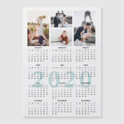 2020 Calendar Photo Collage Magnet Zazzle Com Photo Collage Magnetic Business Cards Photo Magnets