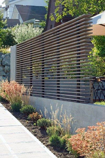 Top 60 Best Modern Fence Ideas Contemporary Outdoor Designs Modern Landscaping Privacy Fence Designs Backyard Fences