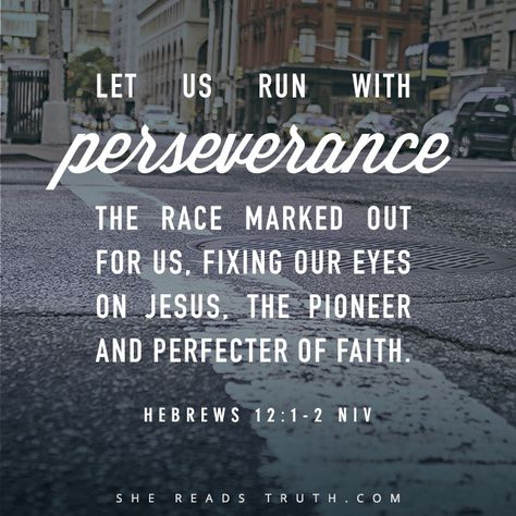 This post is so encouraging this morning and so appropriate for me right now. Throw off what weighs you down and keep running!  Fix your eyes on HIM alone.