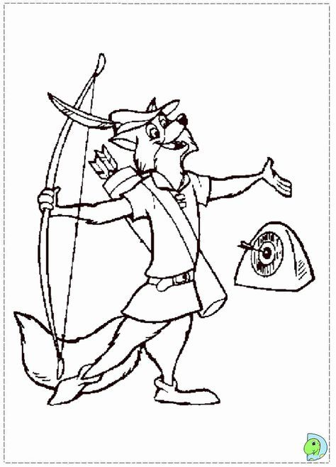 Robin Hood Coloring Page Robin Hood Disney Disney Coloring Pages Printables Disney Coloring Pages