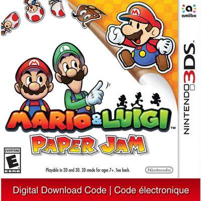Mario Luigi Paper Jam 3ds Digital Download Nintendo 3ds Luigi Mario Luigi