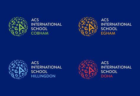 New Logo And Identity For Acs International Schools By Johnson Banks Graphic Design Visual Design Br Logo Branding Identity International School Globe Logo