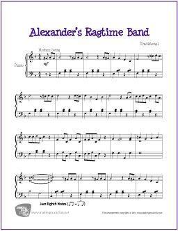 Alexander S Ragtime Band Free Sheet Music Piano Sheet Music