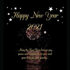 10 980 Happy New Year Greetings Wishes Video Firework Customizable Design Templates Postermywall Happy New Year Greetings New Year Message New Year Wishes
