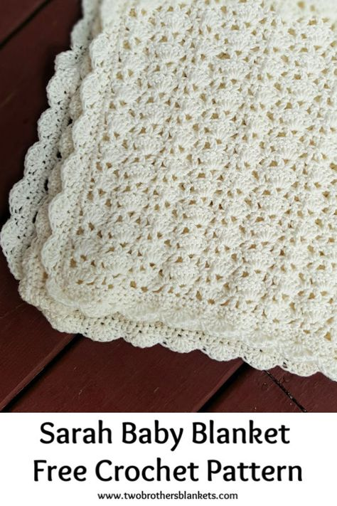 Crochet Baby Blanket Free Pattern, Crochet For Beginners Blanket, Crochet Basics, Free Crochet, Crochet Blankets, Diy Baby Blankets, Crochet Baby Shawl, Knitting Beginners, Crochet Blanket Border