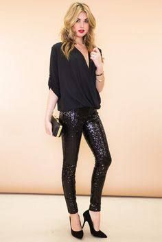 Image result for sequin top with leggings