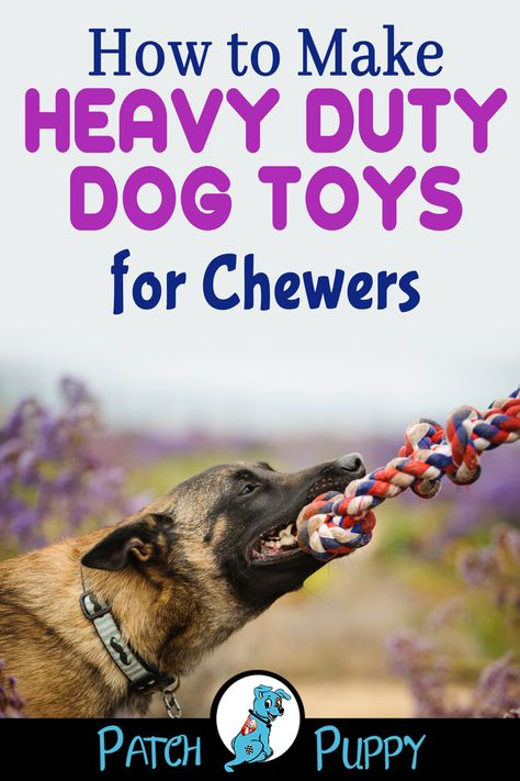 """Check out our post """"DIY Rope Toys for Heavy Chewers"""" to learn How to Make Heavy Duty Dog Toys for Chewers ! dog toys for heavy chewers How to Make Heavy Duty Dog Toys for Chewers Dog Treat Toys, Dog Treats, Pet Toys, Diy Dog Toys For Chewers, Best Dog Toys, Best Dogs, Diy Dog Toys For Big Dogs, Stimulating Dog Toys, Outdoor Dog Toys"""
