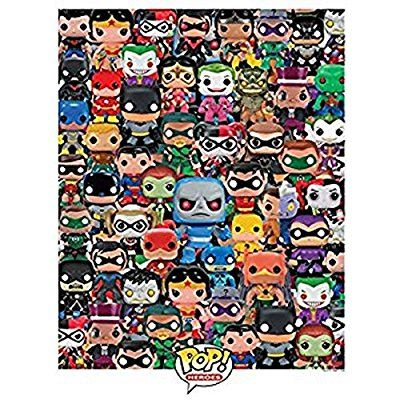 Funko Pop Heroes Dc Comics Pop Heroes Collage Jigsaw Puzzle 1000 Pieces Toys Games Pop Heroes Jigsaw Puzzles Jigsaw Puzzles 1000