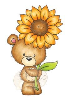 **Retired** MILTON WITH SUNFLOWER Milton & Co Collection Clear Stamp from Wild Rose Studio