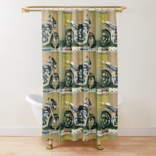 Custom Motorcycle By Albert Faldet Redbubble With Images Designer Shower Curtains Shower Curtain Curtains