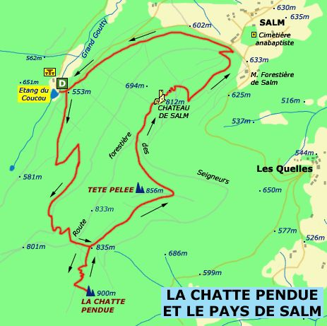 Carte Randonnee Alsace.Pinterest