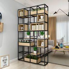 Iron Grid Wall Book Shelf Rack Shelf for Home Coffee Shop Bar Decor Black L