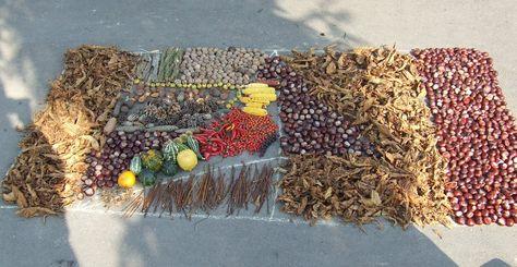 őszi mandala termésekből