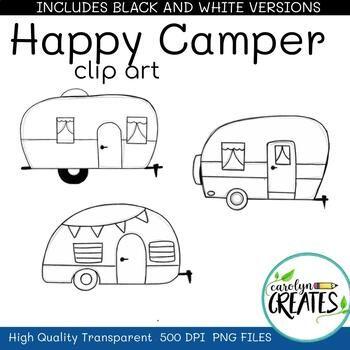 Happy Camper Camper Clipart Camping Clipart In 2021 Camper Clipart Camping Clipart Clip Art