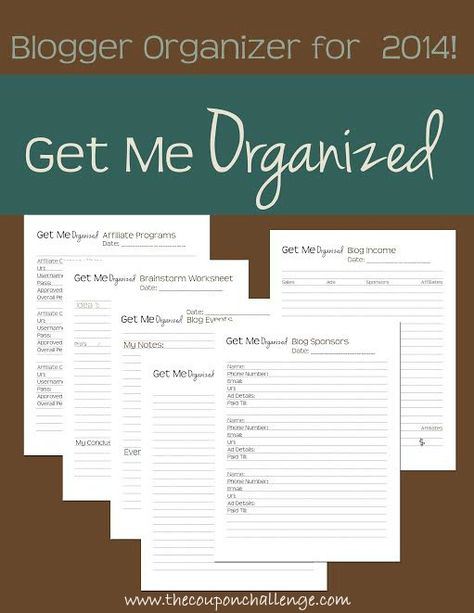 Get organized in 2014 with the FREE Get Me Organized Blog Planner