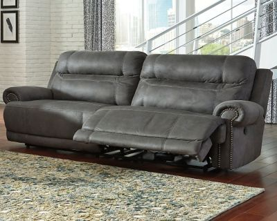 Austere Reclining Sofa By Ashley Homestore Gray Leather