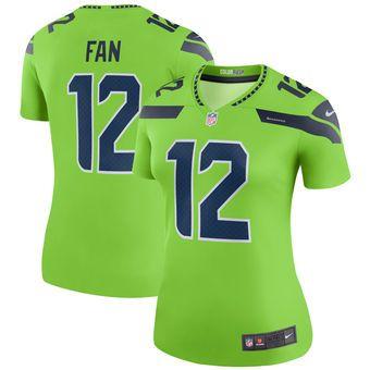 12 Fan Seattle Seahawks Nike Women S Color Rush Legend Jersey Neon Green Nike Neon Seattle Seahawks Clothing Nike Women