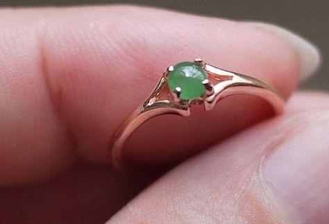 Natural jade ring elegant green jade ring,Unique Engagement Ring,Wedding ring, S925 sterling silver set  ring