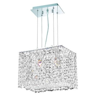bella crystal rectangular chandelier on Aurore 4 Light Shaded Drum Chandelier With Crystal Accents Square Chandelier Drum Chandelier Led Crystal Chandelier