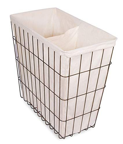 Birdrock Home Wire Double Laundry Hamper Liner Modern Age