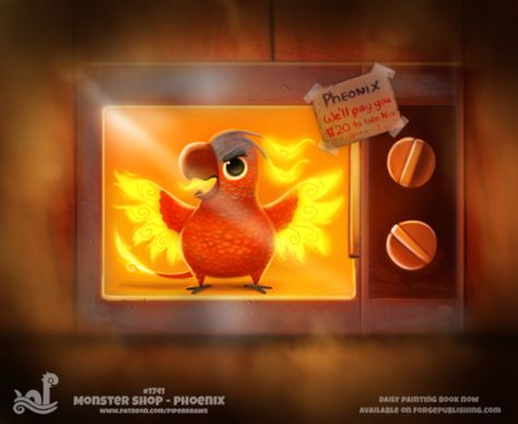 Daily Painting Monster Shop - Phoenix by Piper Thibodeau on ArtStation.