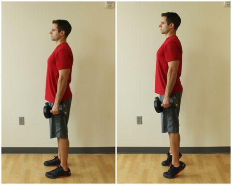 Resultado de imagem para heel raise exercise