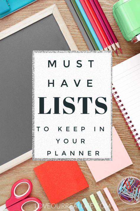 You need these lists to keep in your planner to stay on top of daily activities for a busy family! Works for any planner!